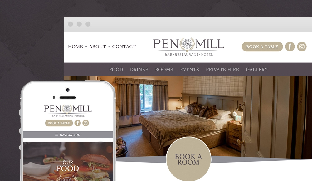 New Hotel & Restaurant website for Pen Mill Hotel - Yeovil