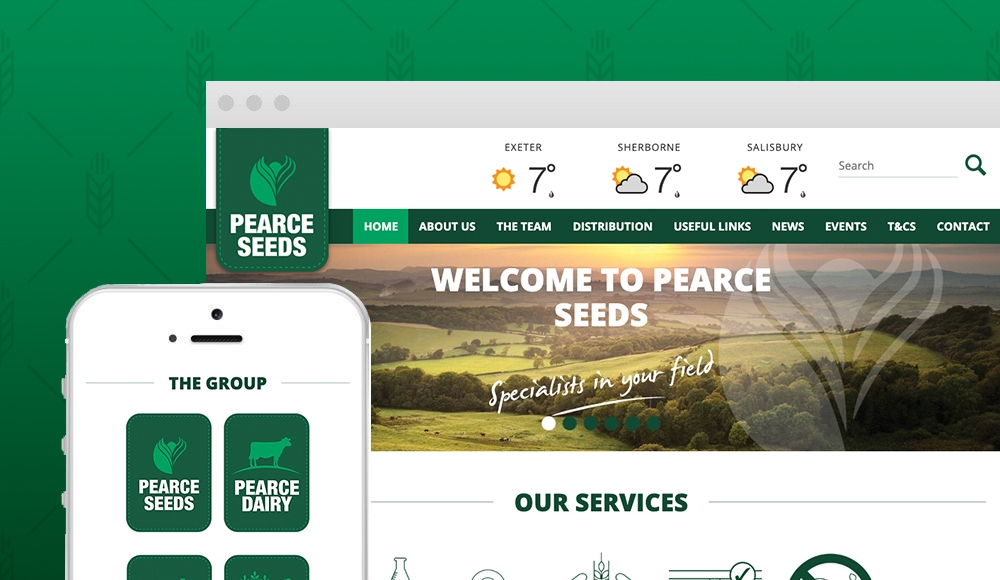 Pearce Seeds Launch New Website