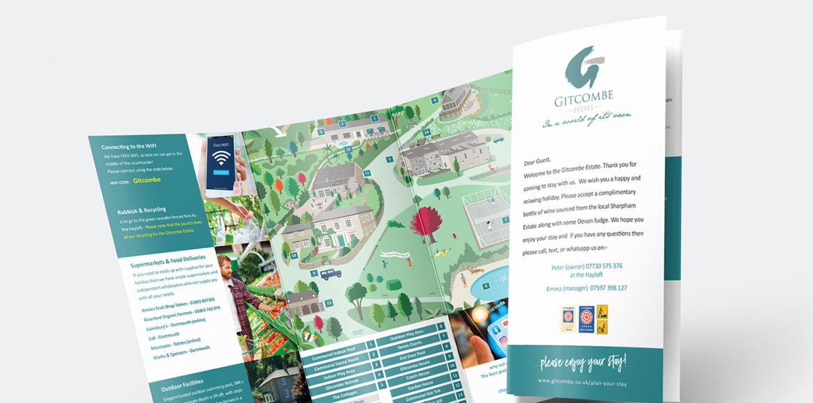 Holiday Cottage welcome leaflet - Gitcombe Estate - Dartmouth
